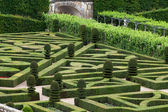 Splendid, decorative gardens at castles in France — Stock Photo