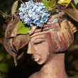 The flower pot in the form of the feminine head — Stock Photo #36829653