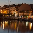 Stock Photo: Alcudimarinat night. Majorca, Spain