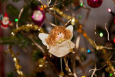 Christmas bauble on christmas tree — Foto Stock