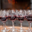 Stock Photo: Red wine in Cristal glasses