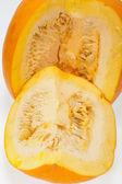 свежей оранжевой тыквы, изолированные на белом фоне — Стоковое фото