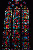 Stained glass windows of Saint Gatien cathedral in Tours, France. — Zdjęcie stockowe