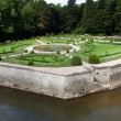 Gardens at Chateau Chenonceau in the Loire Valley of France — Stok fotoğraf