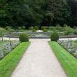 Gardens at Chateau Chenonceau in the Loire Valley of France — Stockfoto