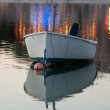 Beautiful Sunset scene with small boat — Stock Photo #38811977