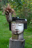The flower pot in the form of the feminine head — Stockfoto