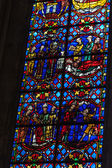 Stained glass windows of Saint Gatien cathedral in Tours, France. — Stockfoto