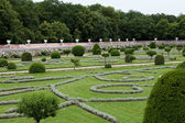 Gardens at Chateau Chenonceau in the Loire Valley of France — Stock Photo