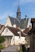 The collegiate church saint of John the Baptist in Monteresor. Loire Valley — Stock Photo