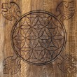 Stock Photo: Wooden Flower of Life.