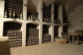 The cellar to the storage of wine in the castle Valencay. Loire Valley. France — Stock Photo