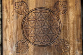Wooden Flower of Life. — Stock Photo