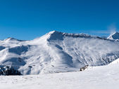 Skiing area in the Alps — Stock Photo