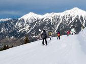 Estación de esquí en los alpes — Foto de Stock