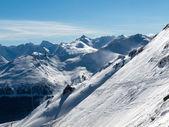 在阿尔卑斯山滑雪区域 — 图库照片
