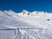 Skiing area in the Alps — Стоковое фото