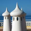 Fairy Chimneys on the terrace overlooking the sea — Stock Photo #4183964