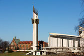 Cracow , Lagiewniki - The Divine Mercy Sanctuary, Roman Catholic basilica dedicated to Divine Mercy devotion, as the resting place of Saint Faustina Kowalska — Stok fotoğraf