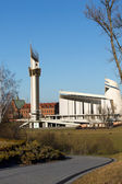 Cracow , Lagiewniki - The Divine Mercy Sanctuary, Roman Catholic basilica dedicated to Divine Mercy devotion, as the resting place of Saint Faustina Kowalska — Foto de Stock