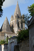 Collegiale St-Ours beside castle of Loches. Loire Valley France — Stock Photo