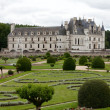 Garden and Castle of Chenonceau. — Stock Photo