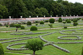 Gardens at Chateau Chenonceau — Stock Photo