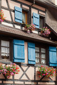 Window of a house in Eguisheim, Alsace, France — Stockfoto