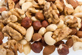 Background of mixed nuts — Stock Photo