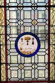 A stained glass from Blois Chateau, valley of Loire, France — Stock Photo