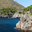 Torrent de Pareis - Sa Calobra bay in Majorca Spain — Stock Photo #44063641