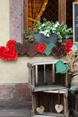 Colorful hearts - the symbol of love . Valantine decorations — Foto Stock