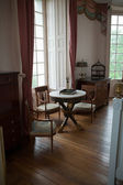 In style kept rooms in the castle Valencay. Loire Valley. France — Stock Photo