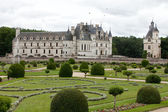 Garden and Castle of Chenonceau — Стоковое фото