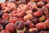 Saturn peach or chinese flat peaches — Stock Photo