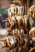 Bagels for sale at the streets of Colmar, France — Stock Photo