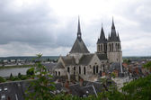 Roof of St-Nicolas Church  in Blois . Loire Valley, France — Stock Photo