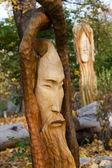 Fairy-like figures from primaeval Slawic tales — Stock Photo