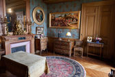 In style kept rooms in the castle Montesor.. Loire Valley, France — Stock Photo