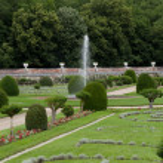 ogrody przy zamku chenonceau w dolinie Loary w Francji — Zdjęcie stockowe #48997195