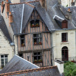 Half-timbered house in Chinon, Vienne Valley, France — Stock Photo