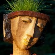 The flower pot in the form of the feminine head — Stock Photo #49308457