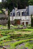 Garden and chateau La Chatonniere near Villandry. Loire Valley — Stock Photo