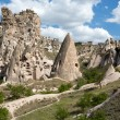 View of Uchisar castle in Cappadocia , Turkey — Foto de Stock   #50209351