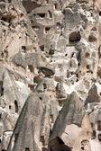Вид замка Учисар в Каппадокии, Турция — Стоковое фото