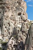 View of Uchisar castle in Cappadocia , Turkey — Stock Photo