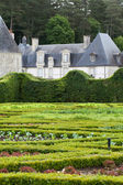 Subtle, sophisticated and full taste garden and chateau La Chatonniere near Villandry. Loire Valley — Stock Photo