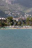Alanya - the beach of Aladdin .  Alanya is one of most popular seaside resorts in Turkey — Stock Photo