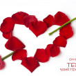 Day Valentine red rose petals — Stock Photo #1834027