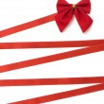 Day Valentine beautiful red ribbon — Stock Photo #1838153